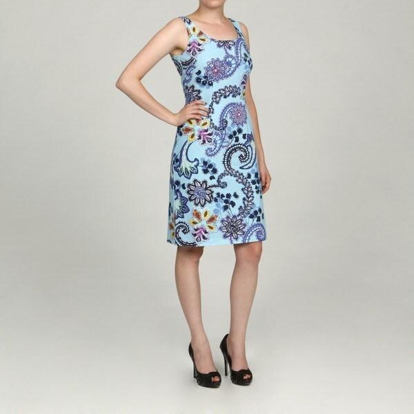 Jessica Howard Women's Beaded Printed Dress