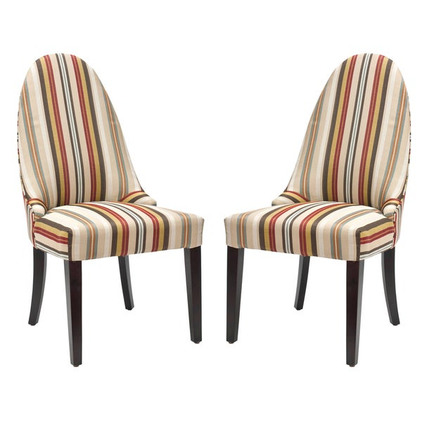 Safavieh En Vogue Dining Matty Black And White Striped: Shop Safavieh En Vogue Dining Regal Striped Dining Chairs