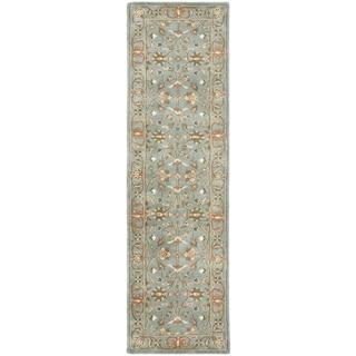 Safavieh Handmade Heritage Timeless Traditional Blue Wool Rug (2'3 x 8')