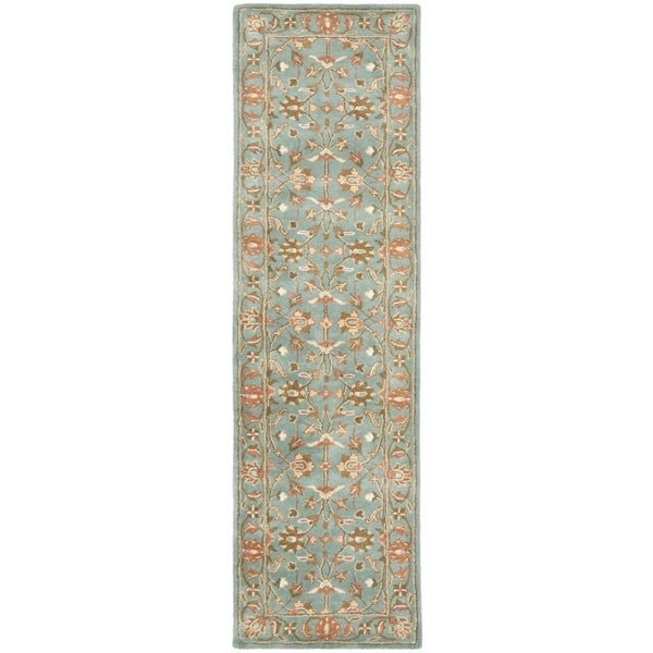 "Safavieh Handmade Heritage Timeless Traditional Blue Wool Rug - 2'3"" x 8'"