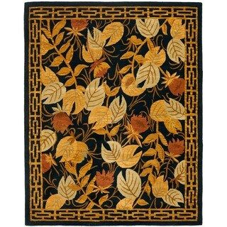 Safavieh Handmade Autumn Black Wool Rug (8' x 10')