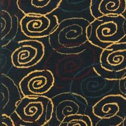 Safavieh Handmade Swirls Navy Wool Rug (2'3 x 7'6) - Thumbnail 2
