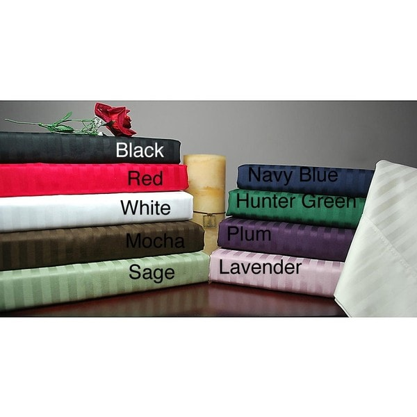Superior 100-percent Premium Long-staple Combed Cotton 300 Thread Count Queen-size Waterbed Stripe Sheet Set