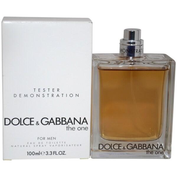 Dolce & Gabbana The One Men's 3.3-ounce Eau de Toilette Spray (Tester)