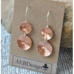 AEB Design Copper and Sterling Silver Double-cup Earrings - Thumbnail 2