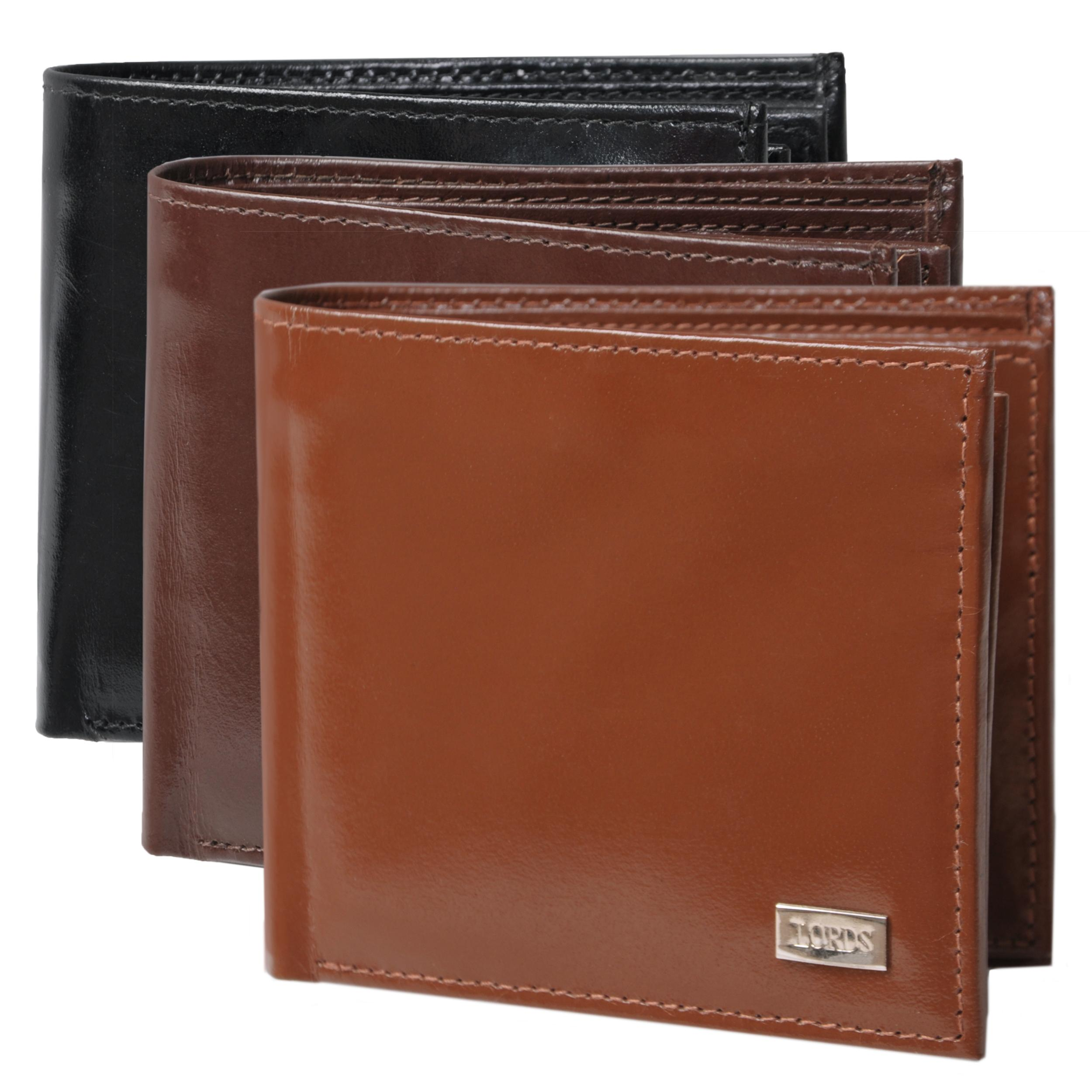 Boston Traveler Men's Genuine Leather Bi-fold Wallet