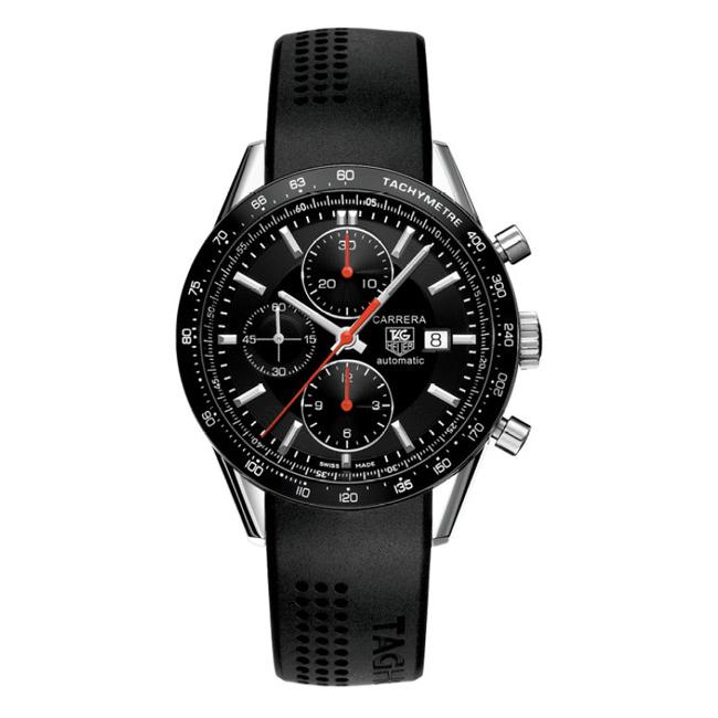 TAG Heuer Men's 'Carrera' Stainless Steel Chronograph Watch