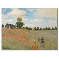 Claude Monet 'Wild Poppies Near Argenteuil' Canvas Wall Art