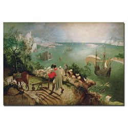 Pieter Bruegel 'Landscape with Fall Icarus, 1555' Canvas Art