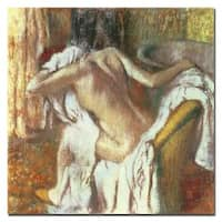 Edgar Degas 'Woman Drying Herself, 1888-92' Gallery-wrapped Canvas Art