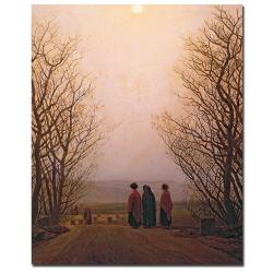 Caspar Friedrich 'Easter Morning, 1833' Gallery-wrapped Canvas Art