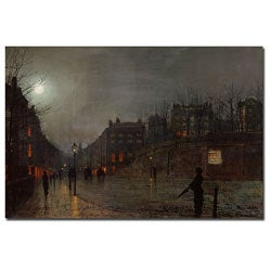 John Grimshaw 'Going Home at Dusk, 1882' Gallery-wrapped Canvas Art