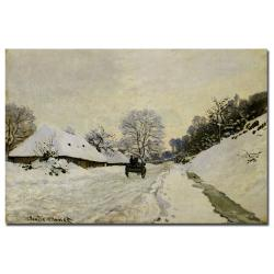 Claude Monet 'The Cart, 1865' Gallery-wrapped Canvas Art
