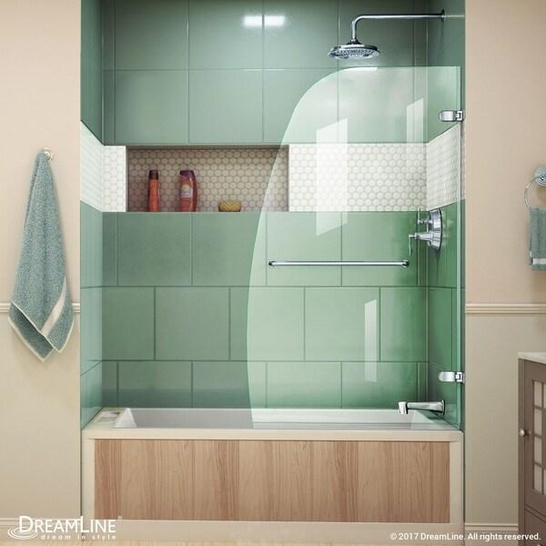 Charmant DreamLine Aqua Uno 34 In. W X 58 In. H Frameless Hinged Tub Door