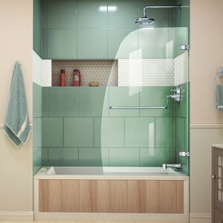 DreamLine Aqua Uno 34 inch Frameless Hinged Tub Door (2 options available)