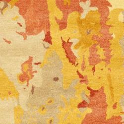 Safavieh Handmade Soho Splashes Modern Abstract Beige Wool Rug (3' 6 x 5' 6) - Thumbnail 2