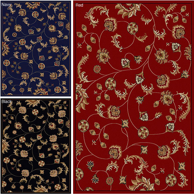 Admire Home Living Amalfi Floral Area Rug (3'3 x 4'11)