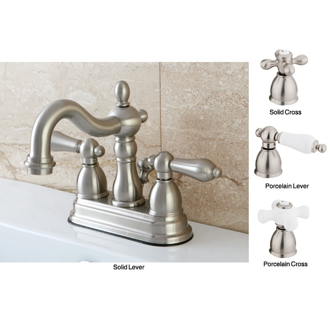 Satin Nickel English Bathroom Faucet - Free Shipping Today - Overstock ...