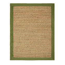 Hand-woven Coastal Seagrass Sage Area Rug (2' x 3')