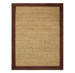 Hand-woven Coastal Seagrass Chocolate Area Rug (2' x 3')