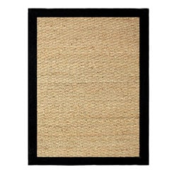 Hand-woven Coastal Seagrass Black Area Rug (2' x 3')