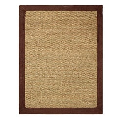 Hand-woven Coastal Seagrass Chocolate Area Rug (5' x 7')