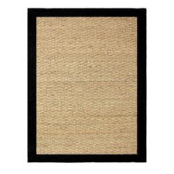 Hand-woven Coastal Seagrass Black Area Rug (3'4 x 5')