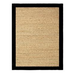 Hand-woven Coastal Seagrass Black Area Rug (5' x 7')