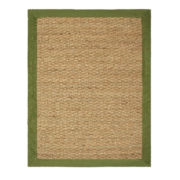 Coastal Seagrass 40 X 60 In Sage Area Rug 3 4 X 5