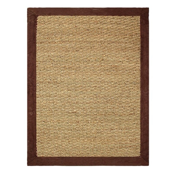 Hand-woven Coastal Seagrass Chocolate Area Rug (3'4 x 5')