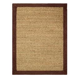 Hand-woven Coastal Seagrass Chocolate Area Rug (3'4 x 5')