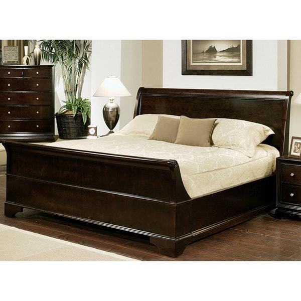 ABBYSON LIVING Kingston Espresso Sleigh Queen-size Bed