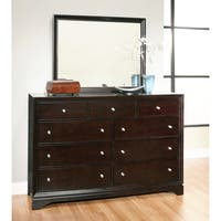 Abbyson Kingston Espresso 9-drawer Dresser and Mirror Set