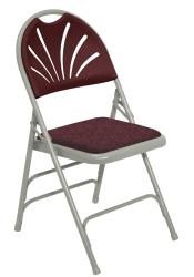 NPS Extended Height Polyfold Fan Back Folding Chair (Pack of 4) - Thumbnail 1