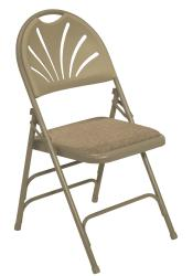 NPS Extended Height Polyfold Fan Back Folding Chair (Pack of 4) - Thumbnail 2