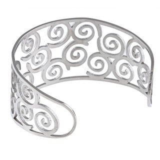 Link to La Preciosa Stainless Steel Wide Swirl Cuff Bracelet Similar Items in Bracelets
