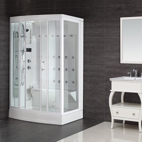 Aston White 24-jet 85-inch Steam Shower - Free Shipping Today ...