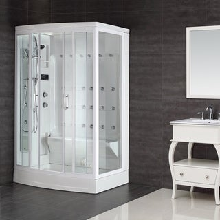 Aston White 24-jet 85-inch Steam Shower