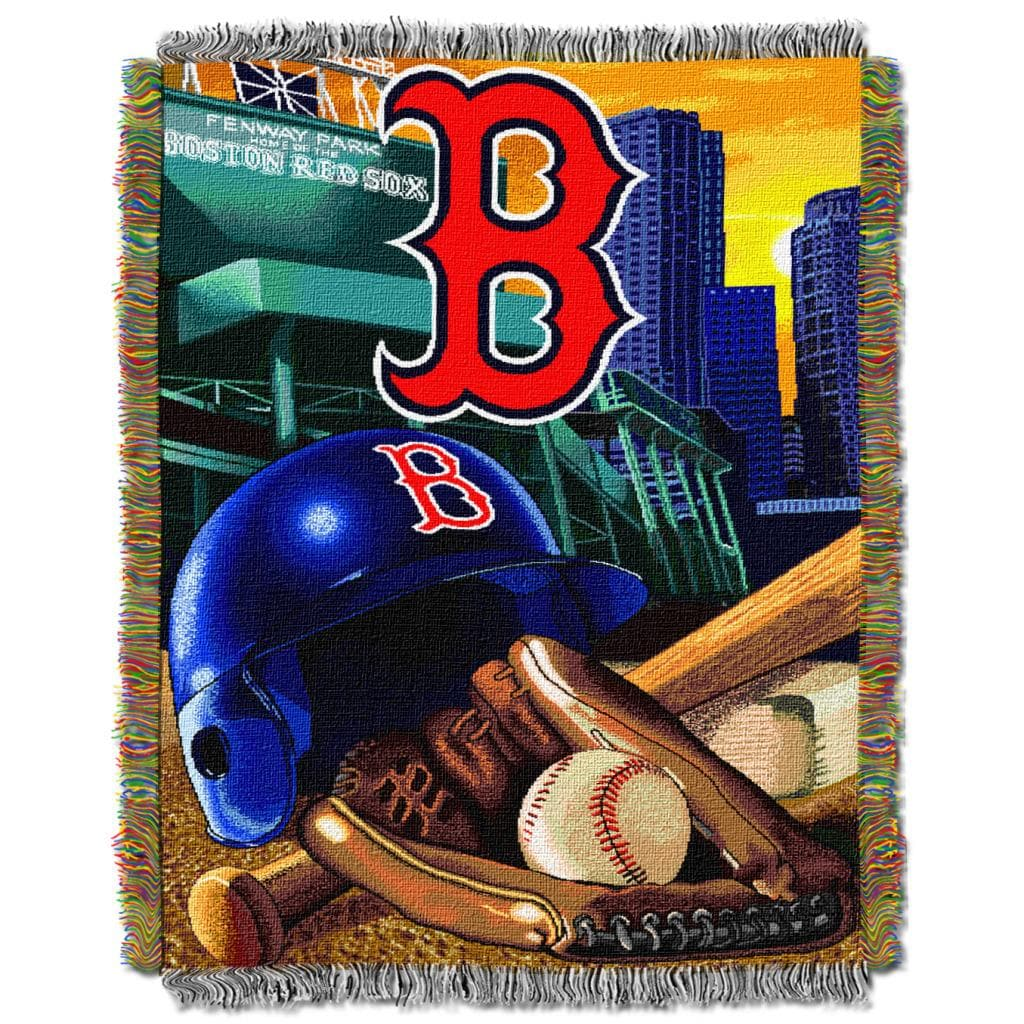 Northwest Boston Red Sox Woven Jacquard Acrylic Baby Blanket