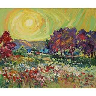 Green Leaf Art Charles Nivens' 'Heavenly 1' Canvas Art