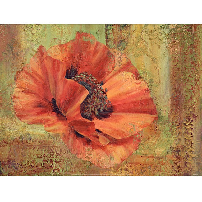 Green Leaf Art Marianne Broome 'Poppy Poem' Canvas Art