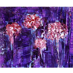 Green Leaf Art Ankan 'Floral Community 1' Canvas Art