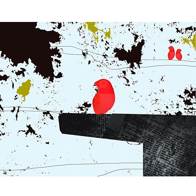 Ankan 'Bird on table 2' Canvas Art