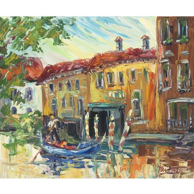 Charles Nivens 'Venice Canal 2' Canvas Art