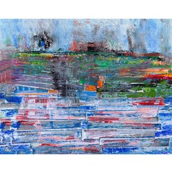 Ankan 'Pieces of View 1' Canvas Art