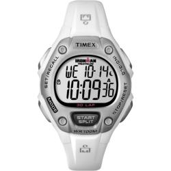 Timex Women's T5K515 Ironman Classic 30 White/Silver-Tone Resin Strap Watch