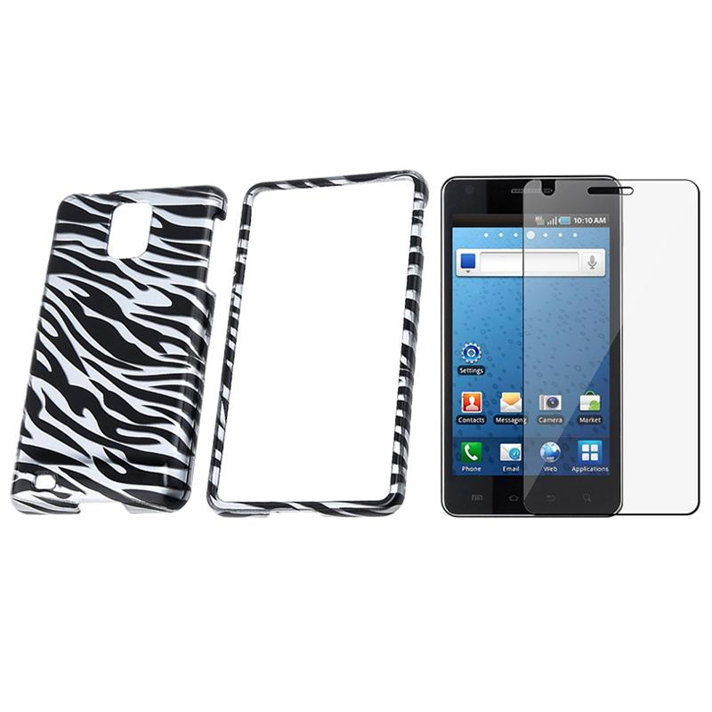 Zebra Case/ Screen Protector for Samsung Infuse 4G