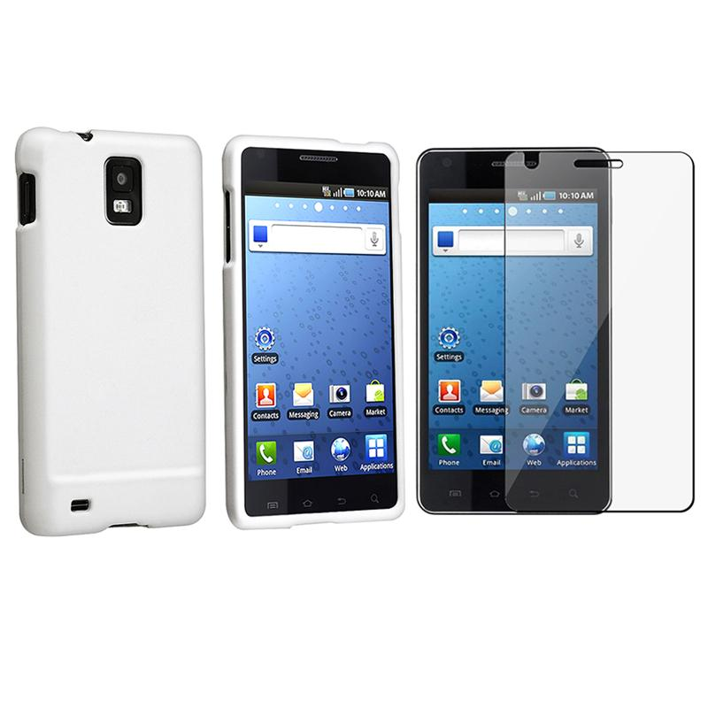 White Case/ Screen Protector for Samsung Infuse 4G