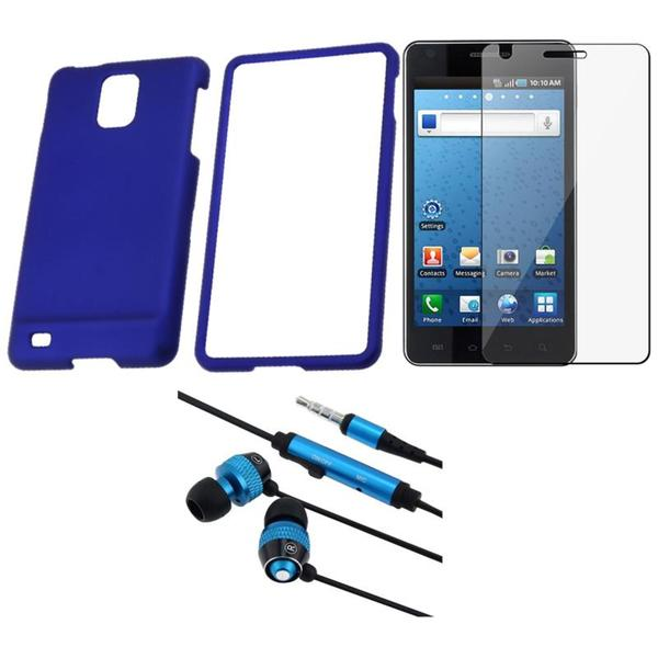 BasAcc Blue Case/ Headset/ Screen Protector for Samsung Infuse 4G