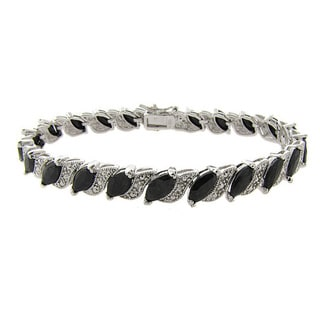 Dolce Giavonna Gemstone and Diamond Accent Bracelet